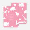 It's Raining Animals Baby Shower Invitations - Cotton Candy