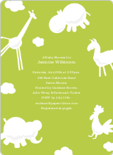 Animal Downpour Invites - Celery