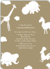 It's Raining Animals Baby Shower Invitations - Mushroom