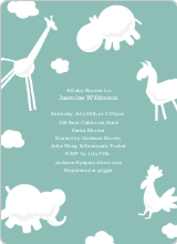 Animal Downpour Invites - Celadon