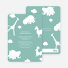 It's Raining Animals Baby Shower Invitations - Celadon