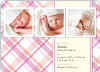 Mad Plaid Multi Photo Announcements - Cotton Candy