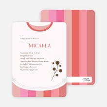 Modern Bib Baby Shower Invitations - Hot Pink