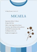 Modern Bib Baby Shower Invitations - Cobalt Blue