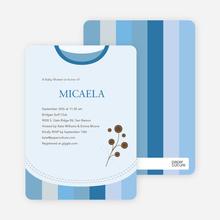 Modern Bib Baby Shower Invitations - Cobalt Blue