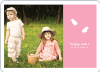 Modern Easter Photo Card - Easter Pink