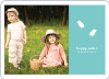 Modern Easter Photo Card - Teal