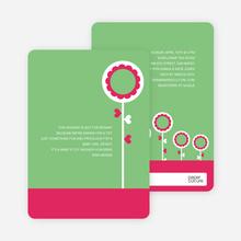 Modern Flower Baby Shower Invitation - Bright Green