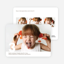 Modern Photo Birthday Party Invitations - Dark Chocolate