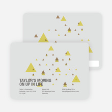 Moving Up Graduation Announcement - Light Grey