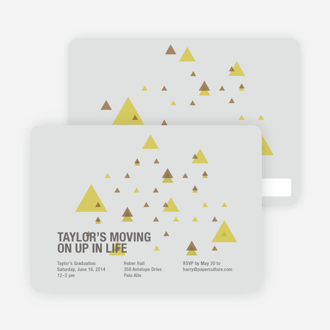 Moving Up Graduation Announcement and Invitation - Light Grey