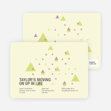 Moving Up Graduation Announcement and Invitation - Pale Yellow
