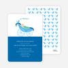 Pea in Pod Baby Shower Invitation - Bright Blue