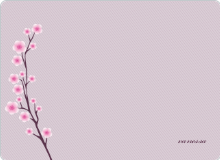 Cherry Blossom Spring: Personal Stationery - Royal Purple