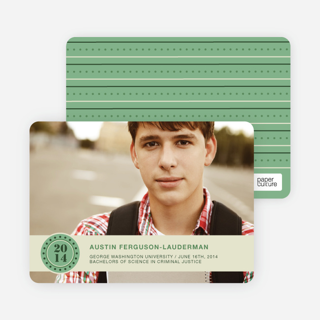 Photo Graduation Announcements - Asparagus