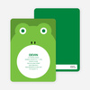 Ribbit Frog Modern Birthday Invitation - Paper Culture Green