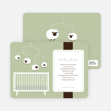Sheep Mobile - Green Baby