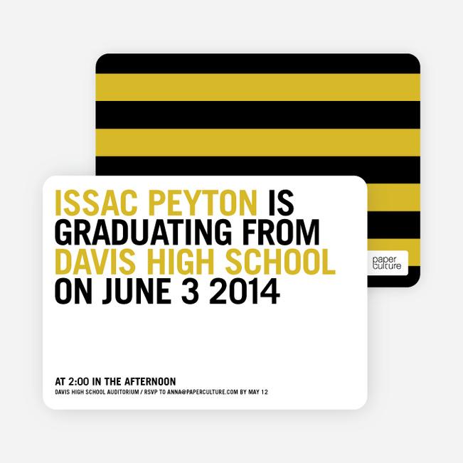 Simple Graduation Invitations - Squash