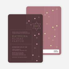 Star of David Bar and Bat Mitzvah Invitations - Brown
