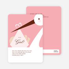 Stork Baby Shower Invitations - Carnation