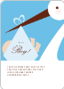 Stork Baby Shower Invitations - Sky Blue