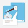 Stork Baby Shower Invites - Main View