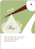 Stork Baby Shower Invites - Front View