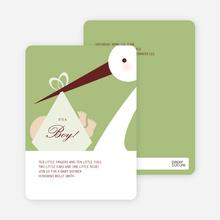 Stork Baby Shower Invitations - Lemongrass