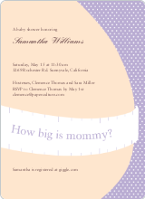 The Bump Baby Shower Invitations - Lavender