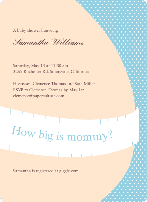 The Bump Baby Shower Invitations - Baby Blue