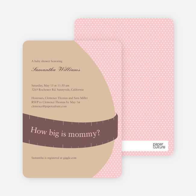 The Bump Baby Shower Invitations - Carnation