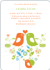 True Love Baby Shower Invitation - Bright Orange