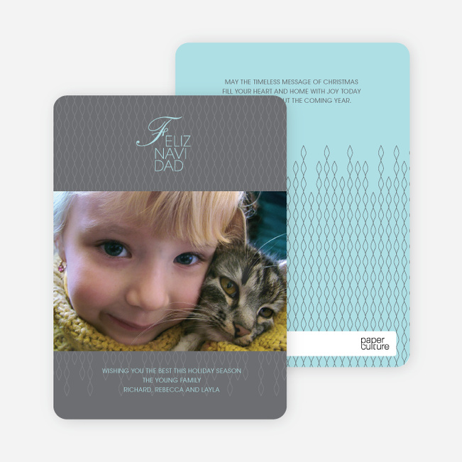 Warmest Wishes Photo Card - Charcoal Grey