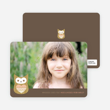 Whooo Loves You Owl Photo Cards - Apricot