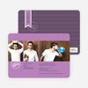 Wine and Champagne Themed Graduation Invitations - Lavender