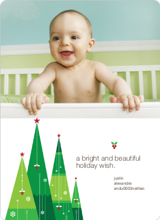 Wishing on a Christmas Tree Star Holiday Card - Shamrock
