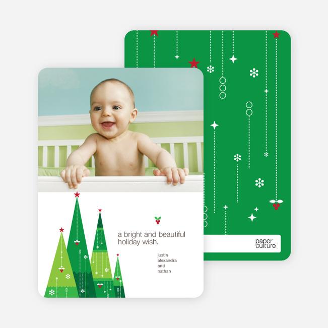 Wishing on a Christmas Tree Star Holiday Card - Shamrock