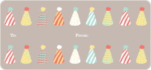 Birthday Hat Gift Tags - Blue