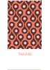 Patterned Party Invitations - Orange