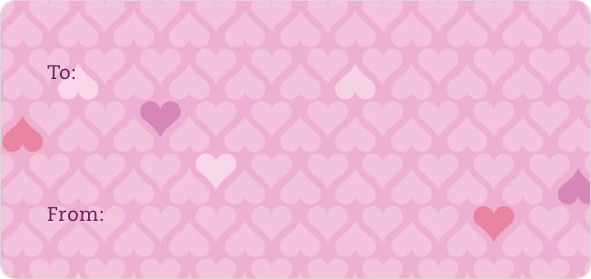 Love and Heart Stickers - Pink