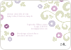 Morning Glory Wedding Shower Invites - Back View