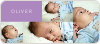 6 Photo Birth Announcements - Purple