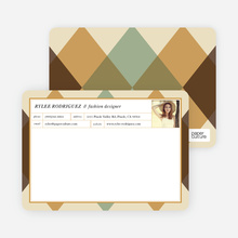 Argyle Custom Stationery - Brown