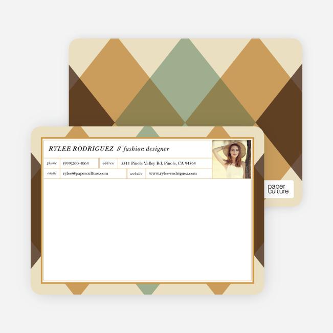 Argyle Custom Stationery - Brown