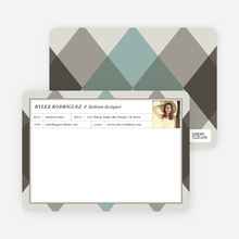 Argyle Custom Stationery - Gray