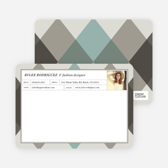 Argyle Custom Stationery - Gray