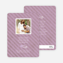 Baby Pin Shower Invitation - Lavender