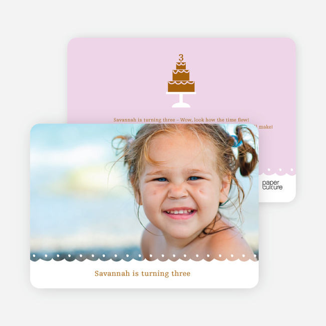 Birthday Cake Party Invitation - Light Lavender