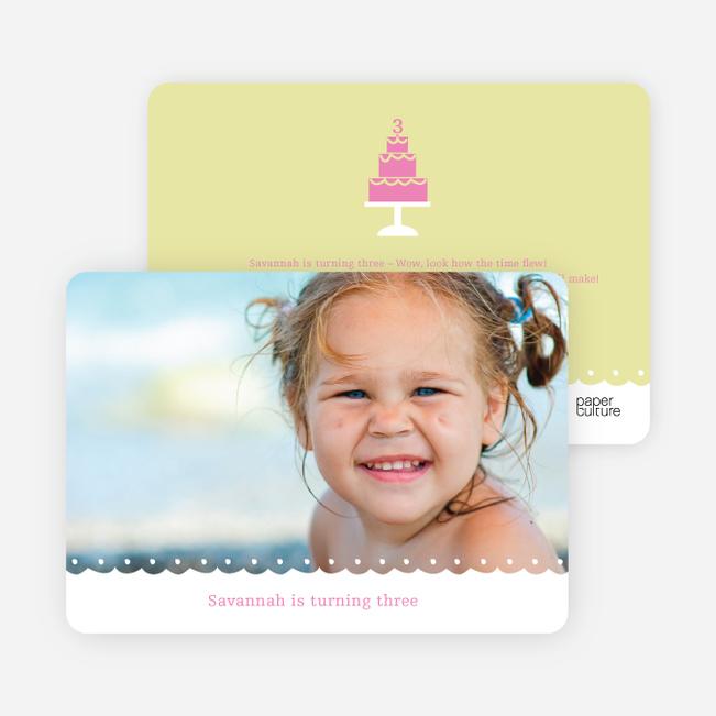 Birthday Cake Party Invitation - Meringue