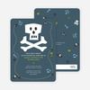 Blue Pirate Modern Birthday Invitation - Tempest Blue